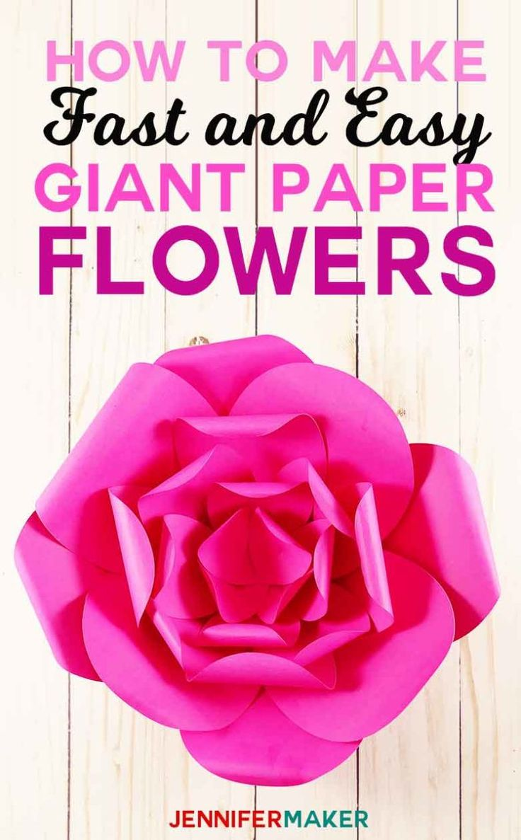 How to Make Giant Paper Flowers – Easy and Fast – This looks neat