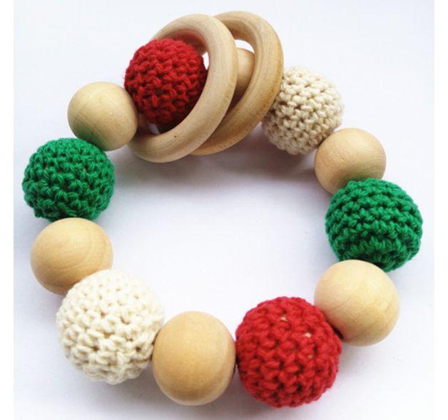 WORLDWIDE FREE SHIPPING Crochet wooden teething