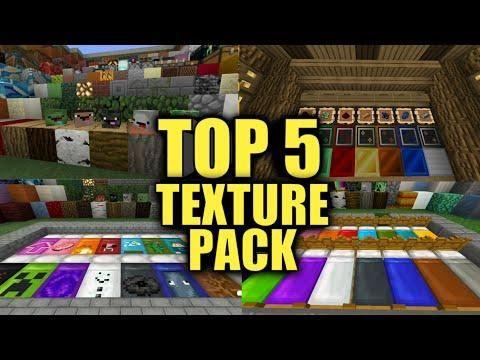 TOP 5 TEXTURE PACK PARA MINECRAFT PE 1 6 0 | Minecraft Texture Packs
