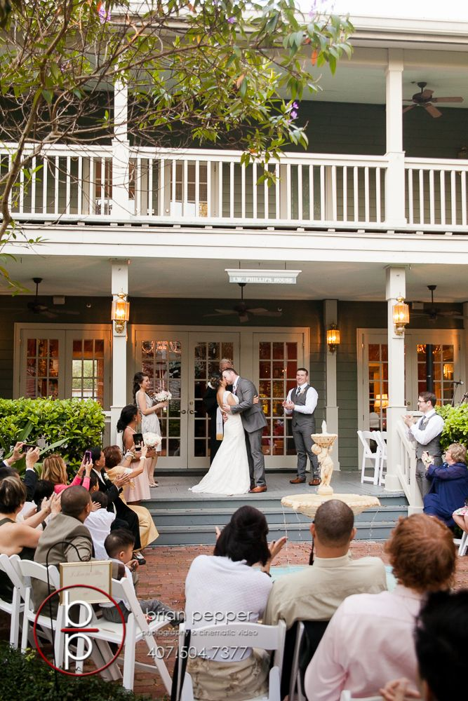 Orlando Wedding Photographer Brian Pepper Captured Weddings At The Historic Courtyard Lake Lucerne