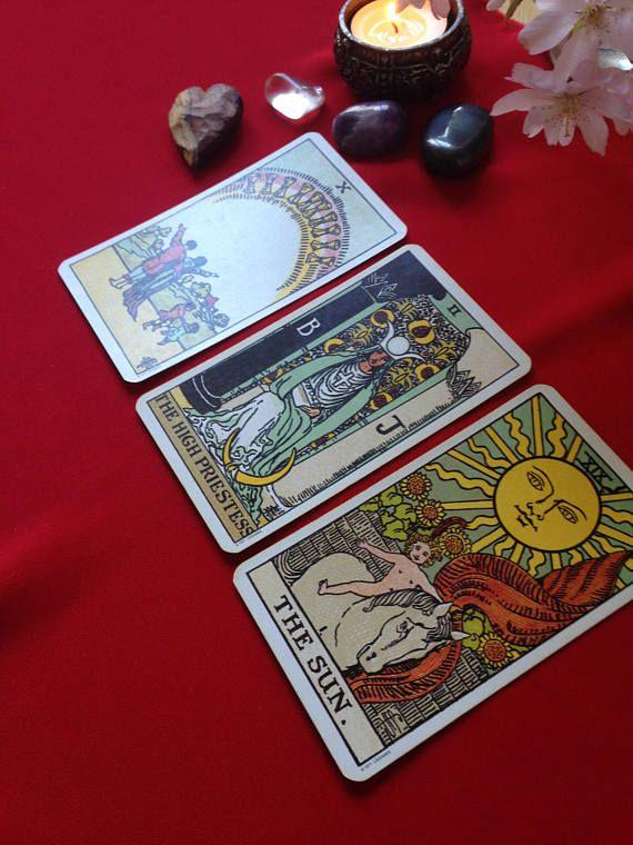 Three Card Tarot Reading - Etsy - Tarot, Tarot cards art, Tarot cards decks beautiful - 웹