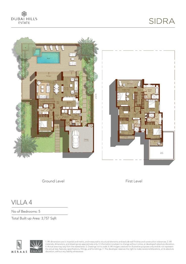 Sidra villa floor plans dubai hills estates dubai for House plans in dubai