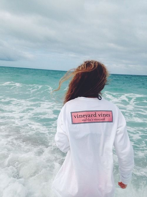 vineyard vines long sleeved. cool hand out free shirt or sweatshirt after clambake when sun goes down and camp fire starts
