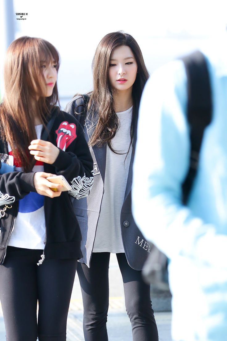 Red Velvet Wendy Seulgi Airport Fashion 150424 2015 Kpop