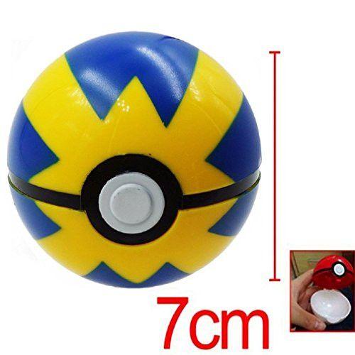 Aikar 7cm Poke Ball Fast Ball + Anime Pokemon / Pikachu Cosplay Pop-up Action Figures Pokeball Toys
