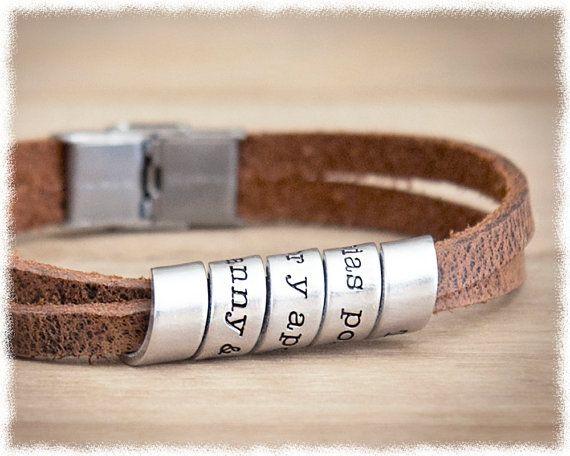 Mens Wedding Anniversary Gifts: Mens Graduation Gift • Mens Personalized Bracelet