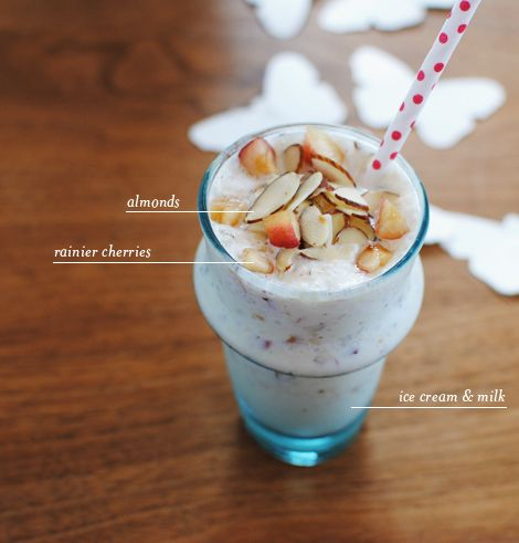 summertime rainier cherry milkshakeRainier Cherries, Almond Milkshakes, Sweets Drinks, Cherries Almond, Cherries Milkshakes, Pies Charts, Drinks Alcohol, Food Photos, Cherries Smoothie