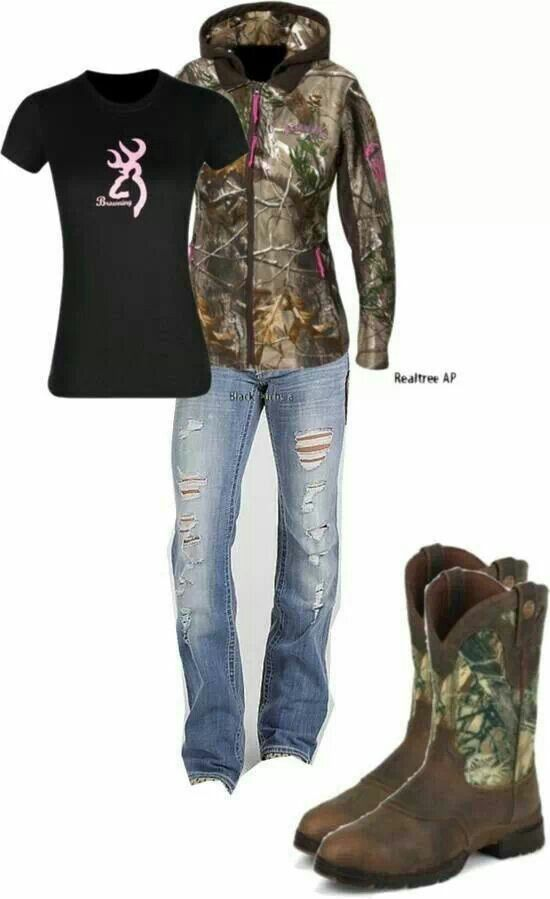 Real tree / Browning / Camo Boots / Ripped Jeans xo