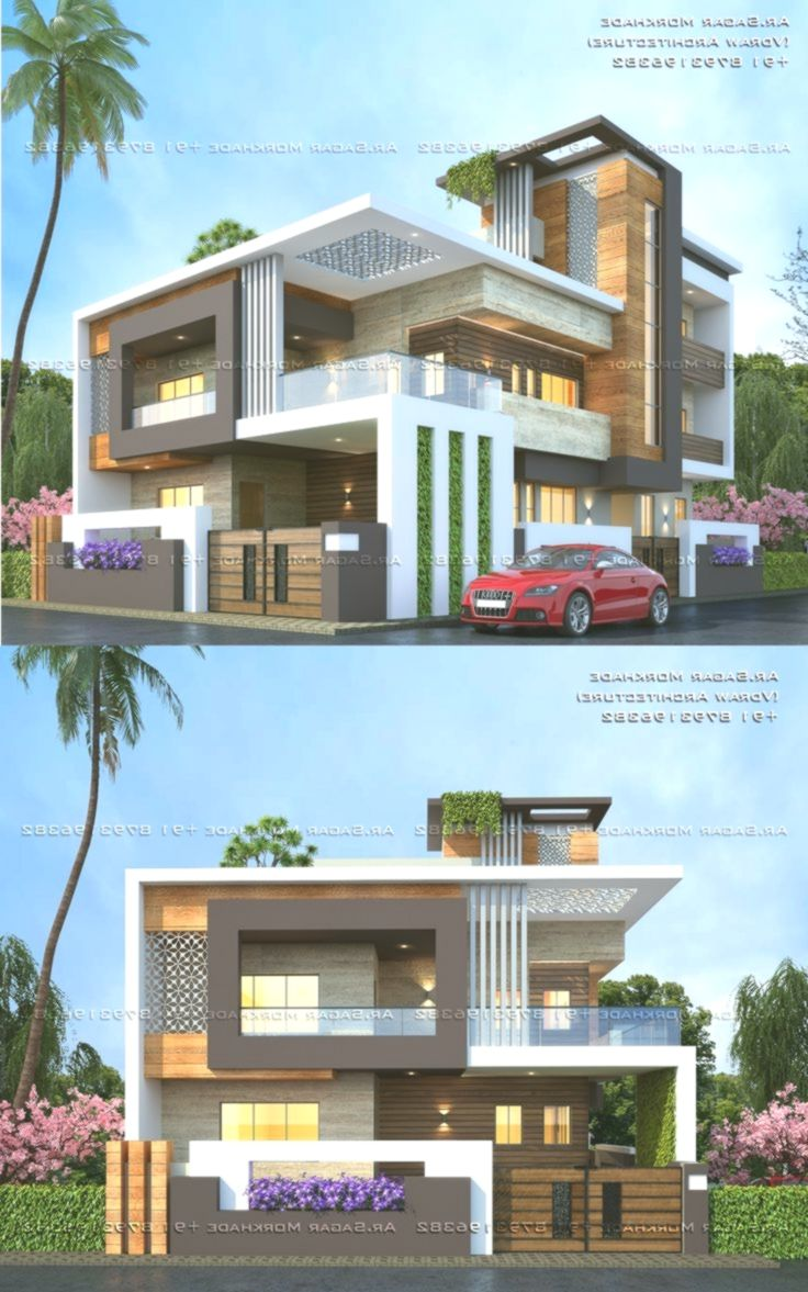 Modern Residential House Bungalow Exterior By Ar Sagar Morkhade Vdraw Arc House Front Design Small House Elevation Design Modern Style House Plans