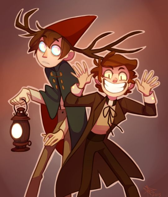 Gravity falls & over the garden wall crossover <--- I love this for reasons