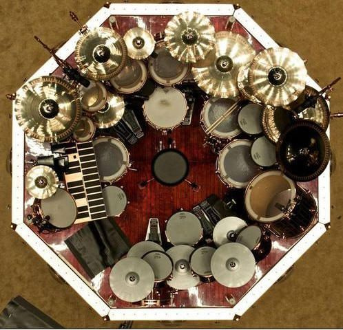 Neil Peart drum set. Awesome