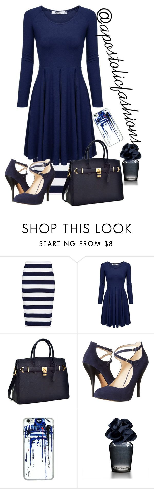 """Apostolic Fashions #1439"" by apostolicfashions on Polyvore featuring French Connection, Nine West, Hollister Co., modestlykay and modestlywhit"