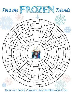 Free Disney Printable - Frozen Maze