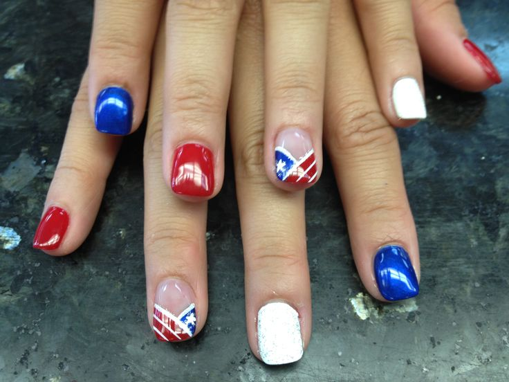 fourth of july shellac nails