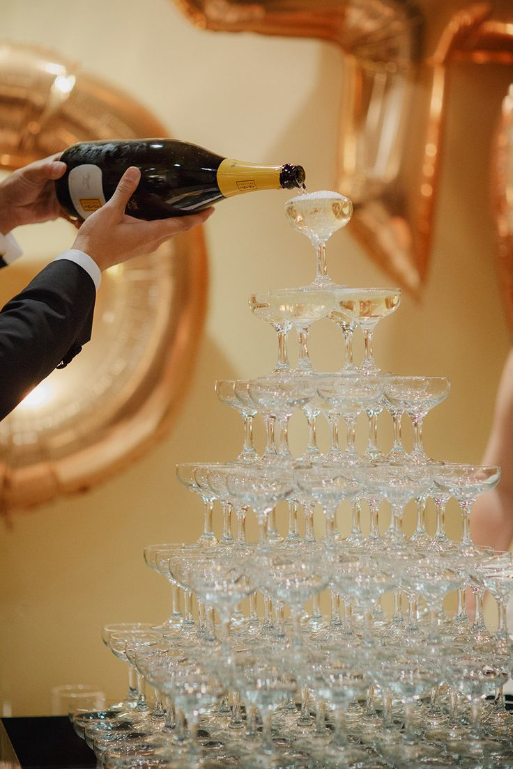 Champagne Towers will always be in style!