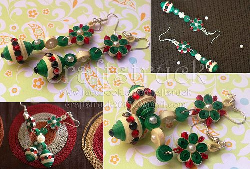 ethnic-era-Paper quilled jewellery is a
