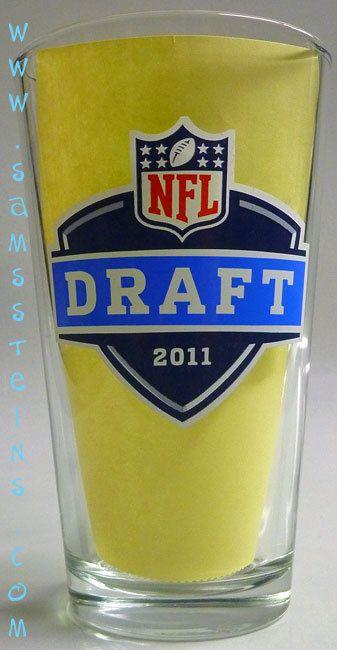 Bud Light 2011 NFL Draft Pint Glass Set - Sam's Man Cave