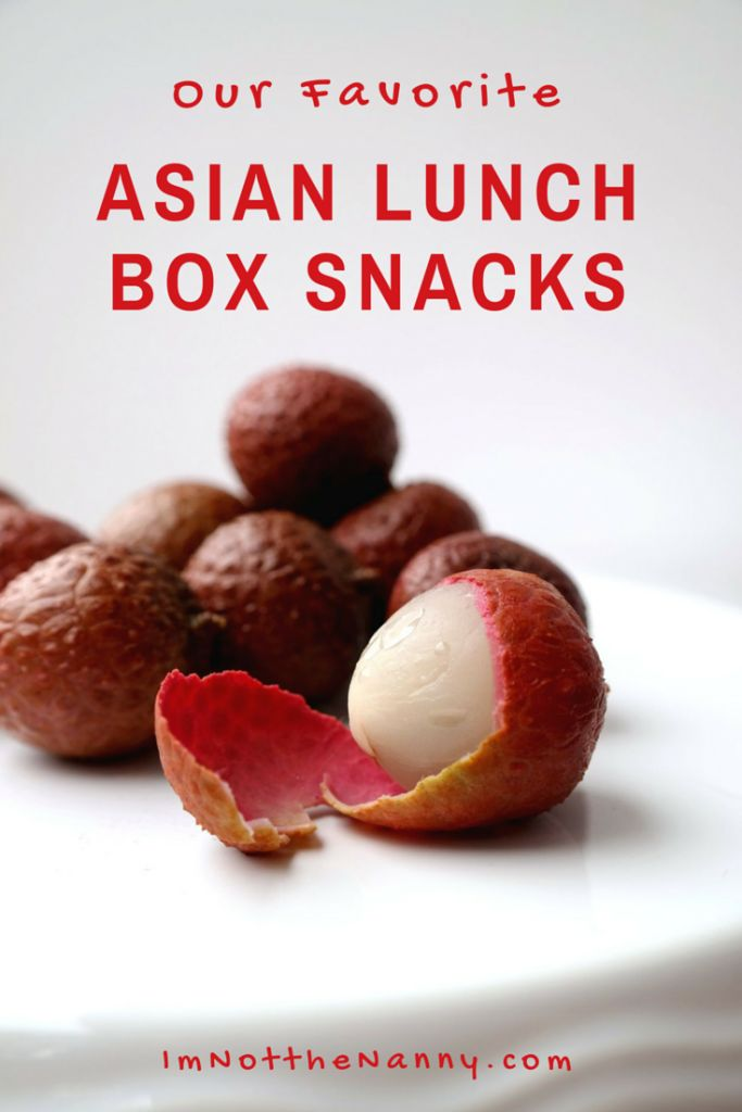 Fave Asian Lunch Box Snacks for back to school via I'm Not the Nanny