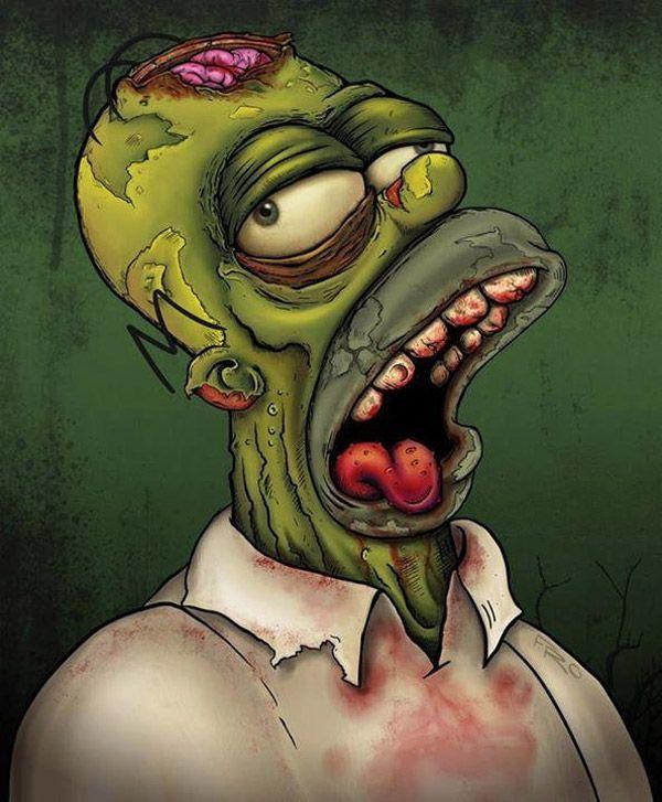 Homer Simpson zombie.