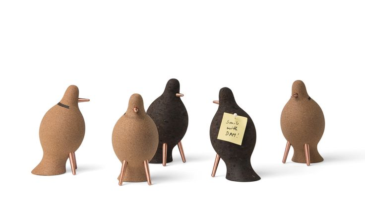The decorative pigeon is a metaphor of the carrier pigeon and a caring message from DAM - always happy to welcome you.  #damfurniture #smilewithdam #corkaccessories