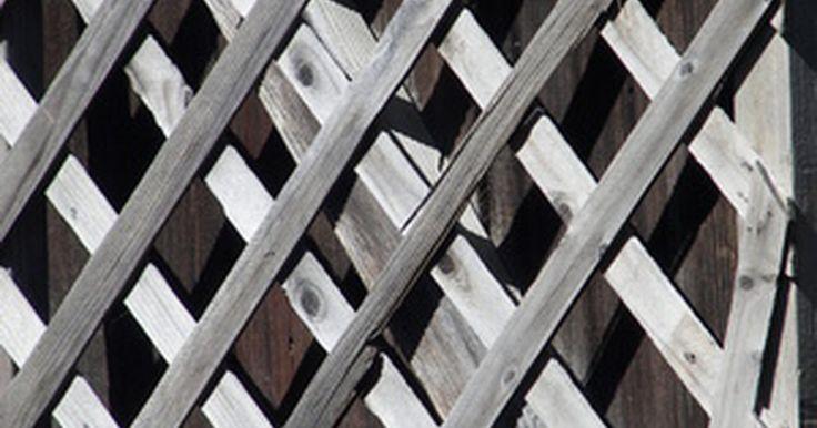 """Como construir uma tela de privacidade. O sentimento por trás da frase """"boas cercas fazem bons vizinhos"""" pode ser aplicado a telas de privacidade que podem bloquear parcial ou completamente a visão para uma parte de sua varanda. Você pode fazer sua própria tela com poucas habilidades com painéis de construção de tamanho padrão. Crie a sensação de um ambiente fechado com essas telas de ..."""