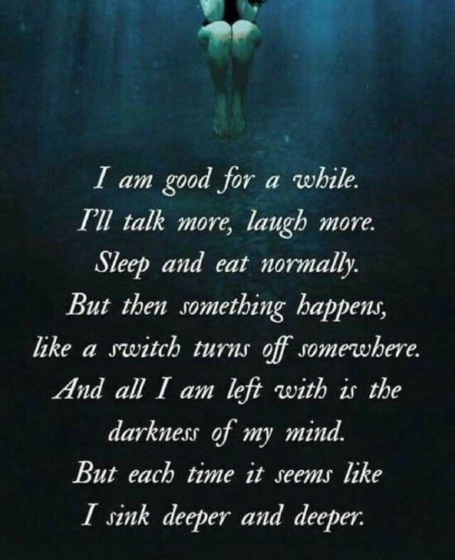 Quotes About Drowning In Depression: 215 Best Images About Quotes: On Futility On Pinterest