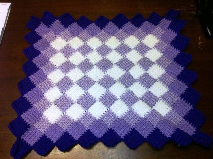 Old Fashioned Tunisian Entrelac Crochet Patterns Crest - Easy Scarf ...