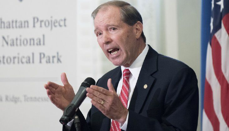 """""""I hope it isn't to single out civil servants who are contributing important work to our understanding of climate change,"""" said Sen. Tom Udall. (AP Photo/Sait Serkan Gurbuz)"""