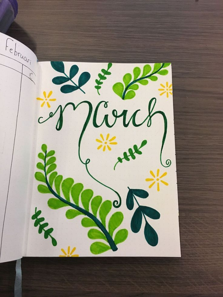91 march bullet journal make your happy