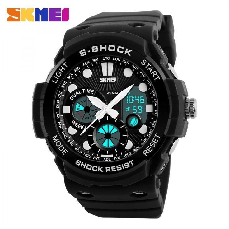Jam Tangan Pria SKMEI Dual Time S-Shock Sport Watch Original AD1205