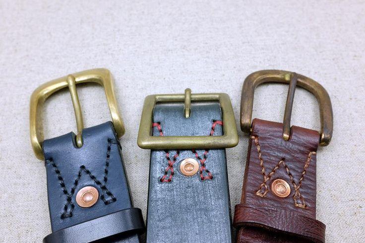 三種不同氧化程度的皮帶頭  #leather #leathercraft  #taiwan #khcraft  #leatherwork #handmadeleather  #ukbridleleather #bridleleather  #革小物 #革細工 #レザークラフト #皮帶 #leatherbelt