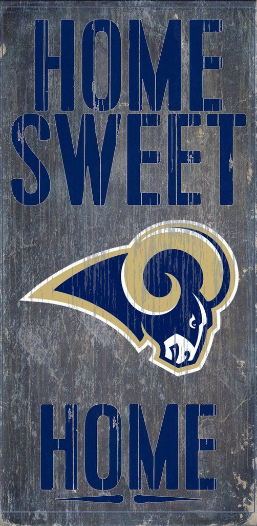 Los Angeles Rams Wood Sign - Home Sweet Home 6x12