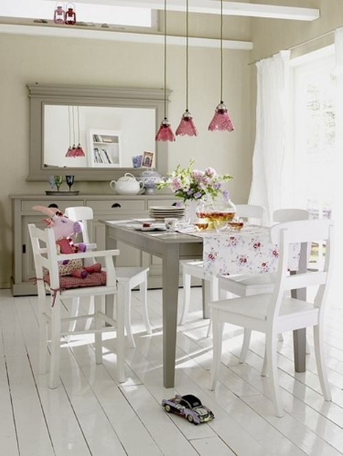 Pretty Dining Room For My Imaginary Beach House