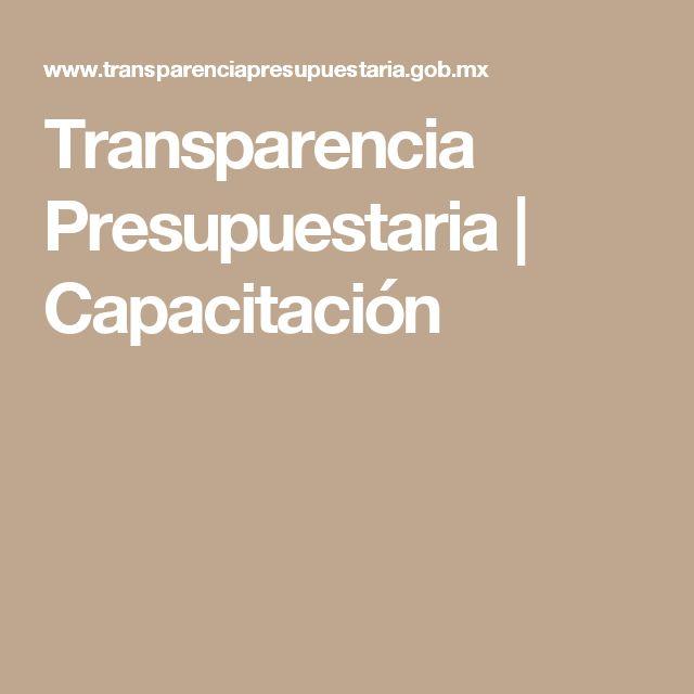 Transparencia Presupuestaria | Capacitación