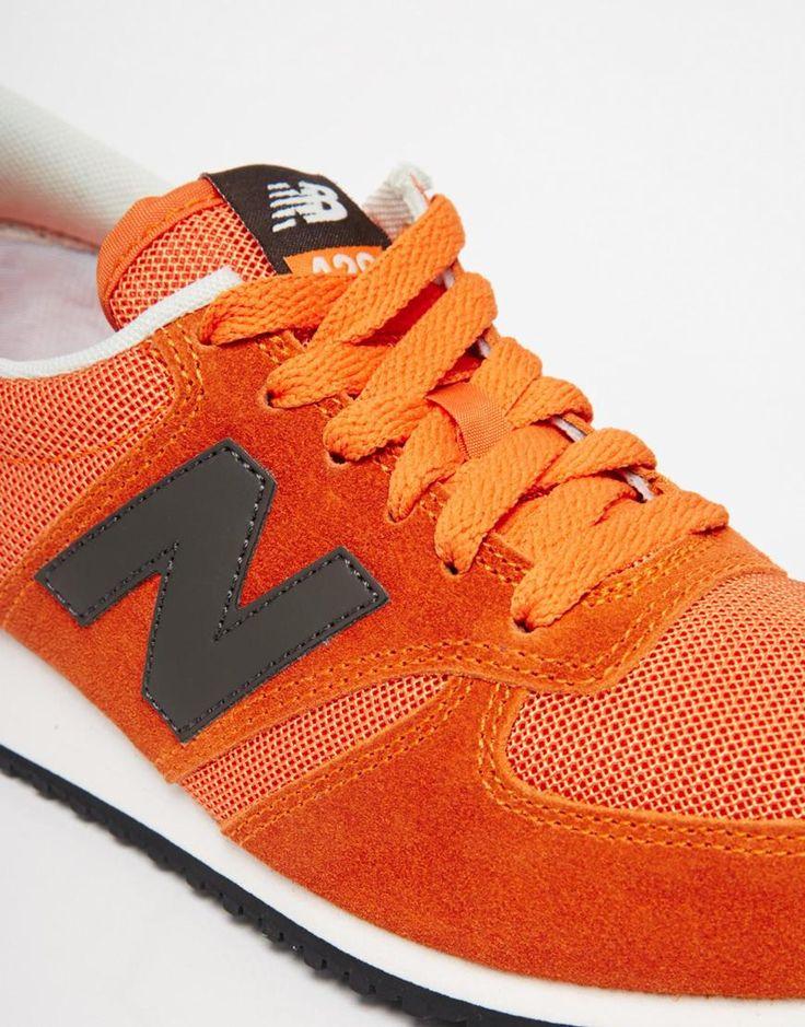 Immagine 4 di New Balance - 420 - Scarpe da ginnastica in camoscio/rete arancioni