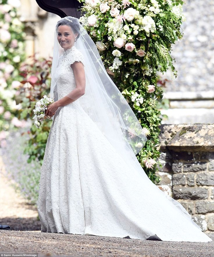 Pippa Middleton Wedding Dress - The 33-year-old stunned as she displayed her gym-honed figure in a stunning white gown by Giles Deacon