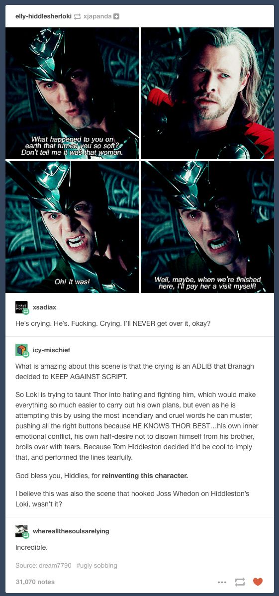 Bless whoever casted Tom as Loki