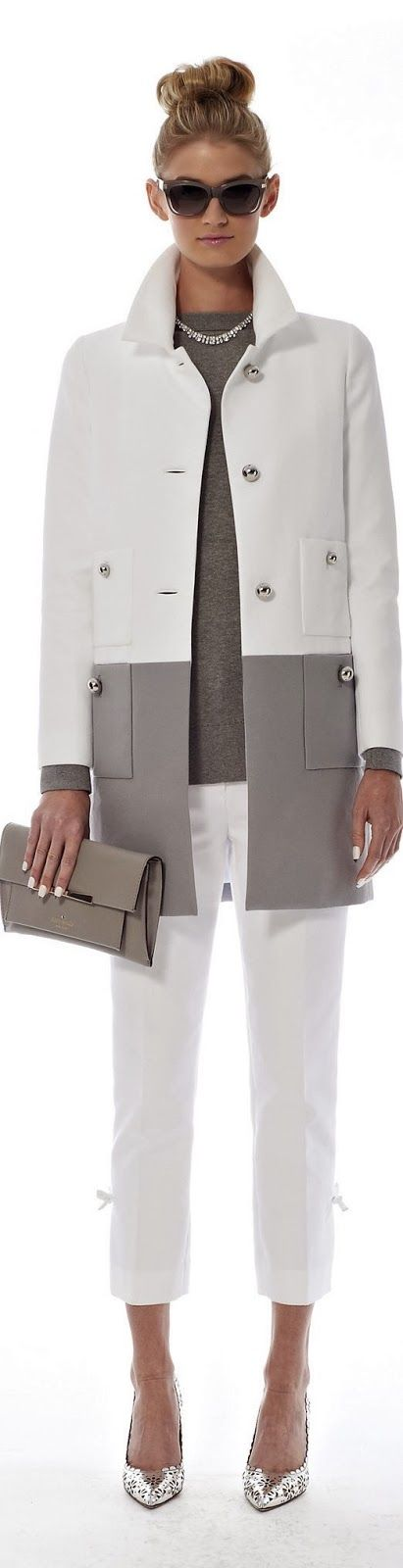 C'est si bon kate spade spring 2014. gray & white fashion