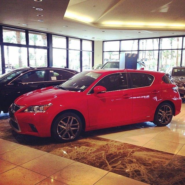 2014 Lexus CT200h in Redline red with Black chrome wheels #lexus #ct200h #blackchrome #lexusct200h #lexusoflasvegas #redline #teamlexus #hybrid #fuelefficient