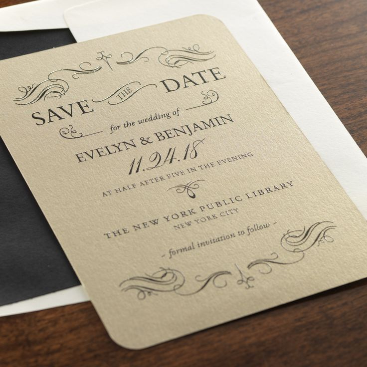 sample wedding invitation letter for uk visa%0A Personalized Blythe Save the Date Invitation