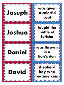 Men of the Bible Matching Game