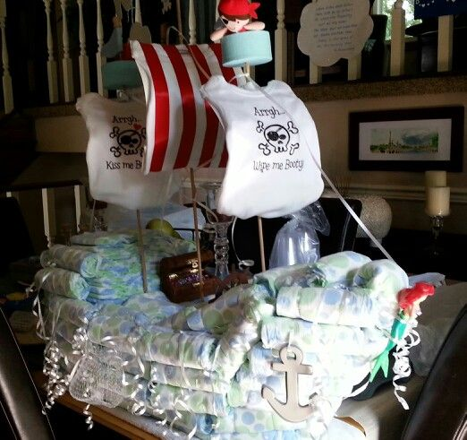 17 Best Ideas About Boat Diaper Cake On Pinterest