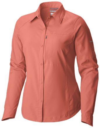 Columbia Women's Silver Ridge Long-Sleeve Shirt  Lychee XS