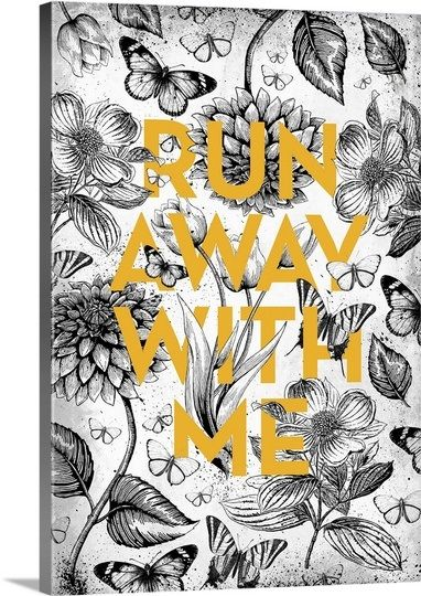 Vintage Illustration Inspiration - Run Away with Me by Kate Lillyson, available from @greatbigcanvas