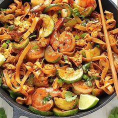 20-Minute Spicy Sriracha Shrimp and Zucchini Lo Mein . 8 oz. package lo mein noodles 1/2 pound shrimp, peeled 1 medium zucchini, cut in half vertically, then cut into half moon shapes 3 cloves garlic, minced 1/2 tsp crushed red pepper flakes 2 large eggs, lightly beaten 1/2 cup fresh…