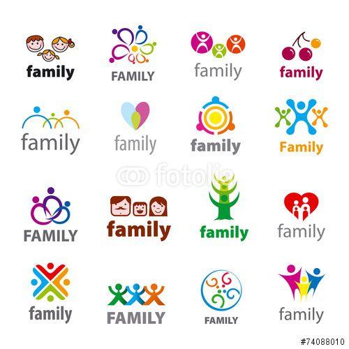 Vector: big set of vector logos family