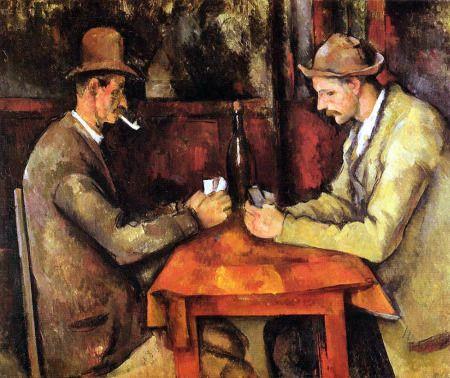 Paul Cézanne pintó durante su carrera una variedad de escenas similares a Los jugadores de cartas, bocetos de personajes y diferentes salas de juego. Este cuadro en concreto, es la versión final, se hizo conocido por ser el cuadro más caro del mundo, alcanzando 250 millones de dólares en el año 2011