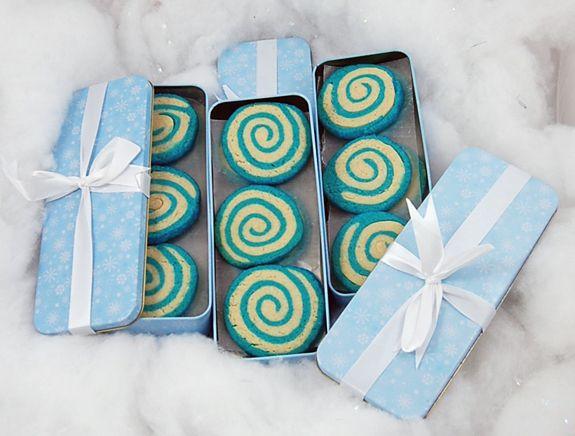 Blue Pinwheel Sugar Cookies
