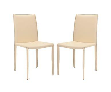 Набор из 2 стульев - железо - молочный, 48х57х91 см