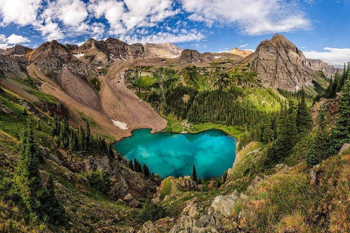 8. Blue Lakes around San Juan Mountain, Colorado.